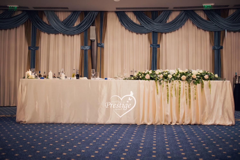 сватбена маса украса