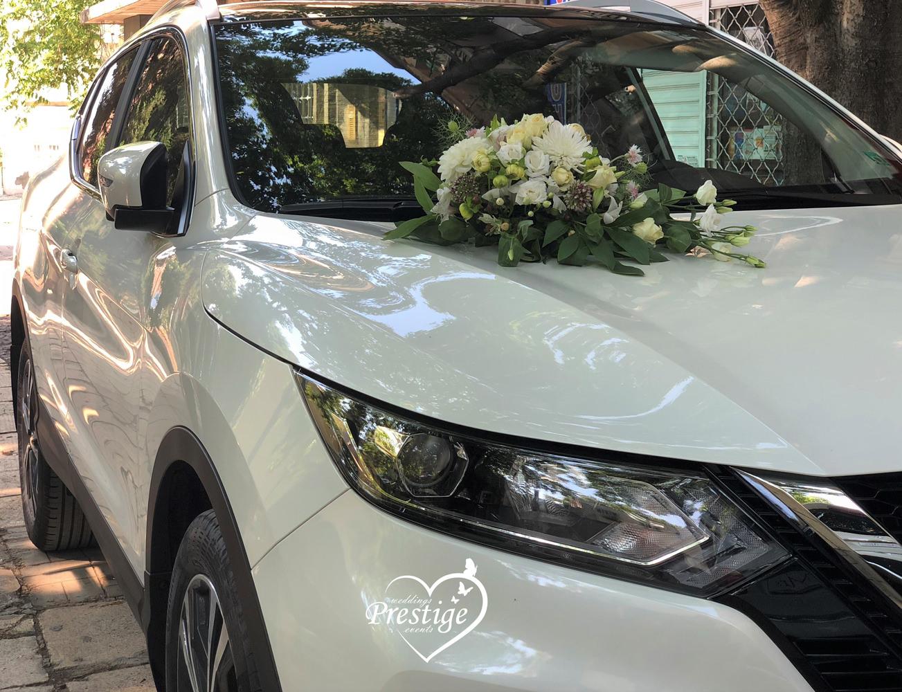 декорация сватбен автомобил