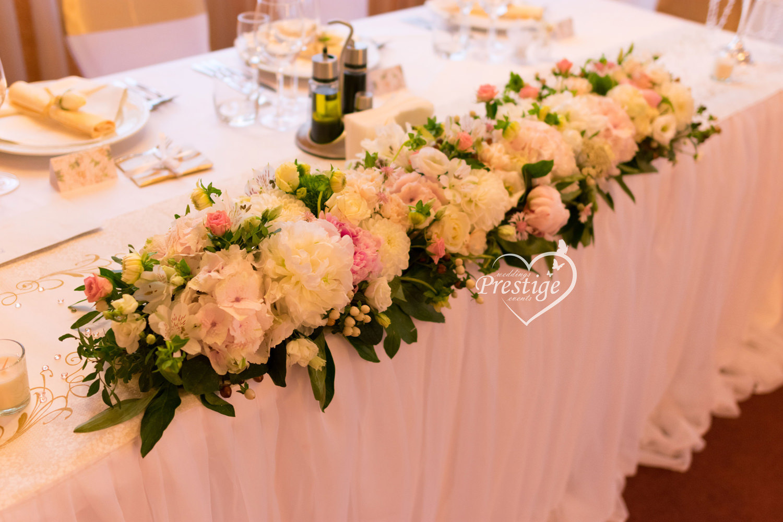 цветя сватба булчинска маса